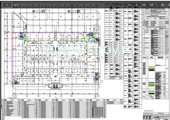 Проект строительства здания торгового центра